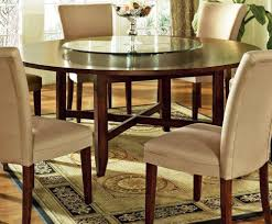 Round Dining Table For 6 With Leaf Large Round Dining Table Seats 8 Lazy Susan Starrkingschool Within