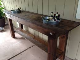 Ice Bucket Table Outdoor Serving Table With Built In Ice Buckets Patio