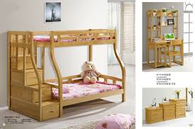 Modern Beech Wooden Bunk Bed Double Strong Style Color B Decker Home  Furniture ...