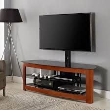 wood tv stand with mount. cherry wood tv stand with mount for tvs up to 65\ tv n