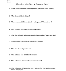 tuesdays morrie miss donnelly s daily apple tuesdays morrie quiz 1 after going through the book for several days as a class and having short journal assignments and discussion