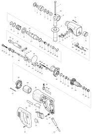 Запчасти для Makita HR2455 схема инструмента, заказать ...