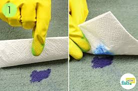 Removing ink stain from carpet Clothes If Youre Working With Fresh Ink Start By Blotting The Area With Paper Towel To Soak Up As Much Of The Wet Ink As Possible When The Paper Towel Becomes Fab How How To Remove Ink Stains From Carpet With Household Items Fab How