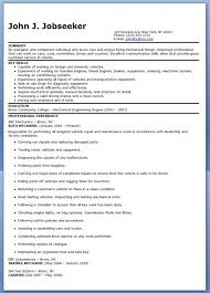 Auto Mechanic Resume Templates Gorgeous Auto Mechanic Resume Sample Free Creative Resume Design Templates