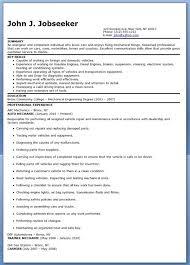 Auto Mechanic Resume Sample Free Creative Resume Design Templates