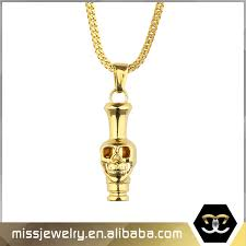 china 18k gold plated stainless steel skull pendant necklace china skull pendant gold plated pendant necklace