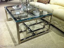 glasschromecoffeetable glass and chrome coffee table t12