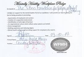 world mental health day mental health at the workplace a gbm mentally healthy workplace pledge