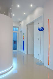 image hallway lighting. Ceiling Recessed Lights And Led Strip Over The Floor For Hallway Lighting Ideas Image