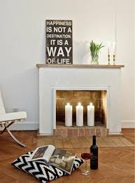 decorative fireplace candles pillar candles white