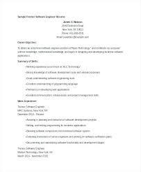 Sample Resume For Fresher Software Engineer Agreeable Resume Cover