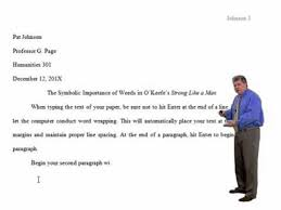 mla style essay format word tutorial