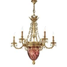 solid cast brass decorative chandelier
