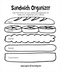 best third grade language arts images english  sandwich report organizer