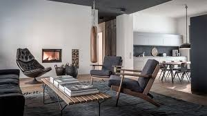 apartment style furniture. Edgy Luxury Apartment Equipped With Statement Furniture Pieces And Signature Interior Design - HomeWorldDesign (1 Style E