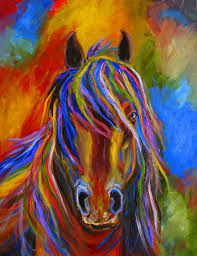 gallery for abstract horse paintings prints