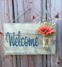 Small Picture Mason Jar Welcome Sign Distressed Welcome Sign