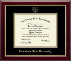 Lsu Feti Certification Chart Lsu Tigers Gold Embossed Diploma Frame