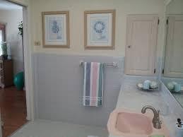 blue tiled bathroom to the house