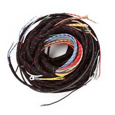 tech moss wiring harnesses moss motoring early harness lacquer braid insulation woven cotton cloth covering