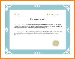 Shareholder Certificate Template Certificate Template Microsoft Word Free Stock Certificate Templates