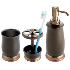 bathroom sets decor amazon mdesign metal bath accessory set soap dispenser