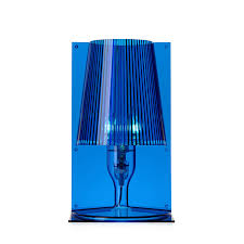 Kartell Table Lamp Take Blue Transparent Polycarbonate