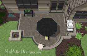 patio designs with fire pit. Arcs And Rectangles Patio Design With Seat Wall Fire Pit 2 Patio Designs Fire Pit