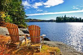 adirondack chairs lake. Fine Chairs Chairs Photograph  Adirondack At Lake Shore By Elena Elisseeva With Fine Art America
