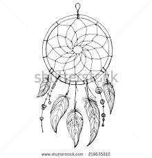 Native Dream Catchers Drawings Dreamcatcher feathers and beads Native american indian dream 7