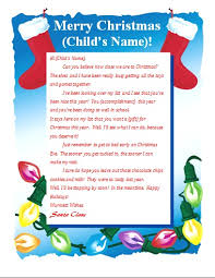 Free Letter From Santa Word Template Printable Letter From Santa