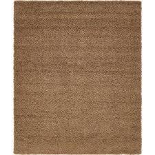 solid sandy brown 8 x 10 rug