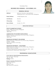 Sample Resume For Nurses Without Experience Sample Resume For Registered Nurse Without Experience Philippines 5