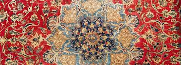 stained persian rug after treatment