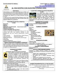 Formatos De Boletines Informativos Boletin Informativo Semanal 3 By Iglesia Adventista Del
