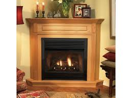 free standing ventless gas fireplace surprising vent corner fireplaces home design ideas 16