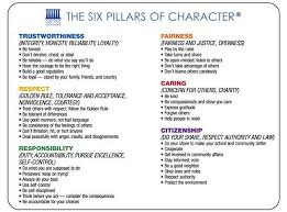 best character count images character counts 6 pillars of character education character counts rdquo and ldquothe six pillars of