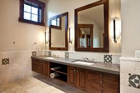 delightful double vanity mirrors for bathroom 48 lighted mirror rustic with dark stained wood floating cabinet