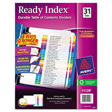 Amazon Com Avery Ready Index Table Of Contents Dividers 31 Tab