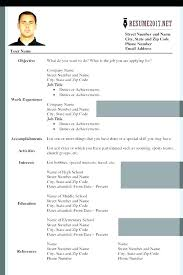 Demo Cv Format New Resume Format Sample Resume Format Sample Simple For Job In