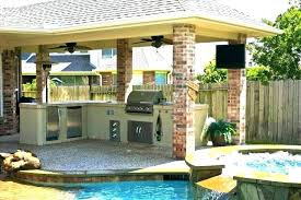 outdoor cooking area plans covered kitchen with fireplace cook patio outdoor covered area school plans
