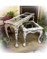 antique entryway table. Large, Antique, Entryway Table, White, Sofa Distressed, W/ Antique Table