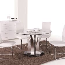 vida living exclusive liberty tempered glass round dining table me home furnishings
