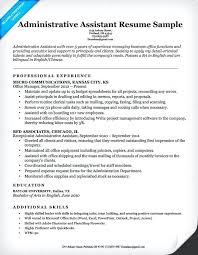 Sample Resume For Administrative Assistants Sample Resume Administrative Assistant Canada Resumes Example Free