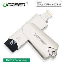 ugreen mfi lightning micro sd tf otg card reader usb 2 0 memory mini cardreader for iphone 6 7 8 plus ipod ipad otg card reader in card readers from