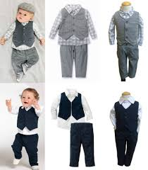 Toddlers Boy Formal Pageant Suit Shirt Pants Waistcoat All In A