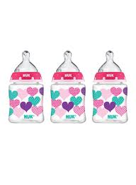 Shop NUK Pack Of 3 Hearts Baby <b>Bottle With Perfect Fit</b> Nipple ...
