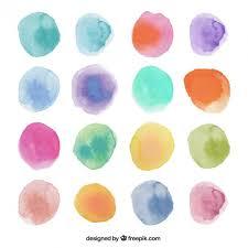 Watercolor Dots Vector Free Download