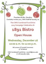 Invitation To Open House Campus Notices 1891 Bistro Open House Invitation To Cwu Faculty