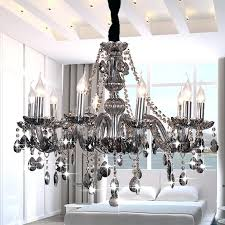 formidable smoky gray crystal chandelier smoke grey morn luxury re smokey candle ceiling lamp fixture pictures